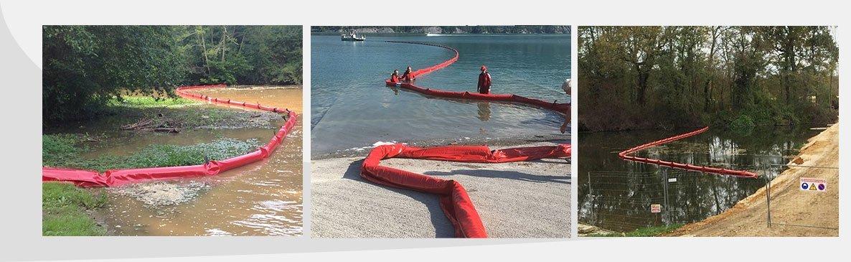 Choix de barrages pour confiner, absorber, filtrer et prévenir toute pollution aquatique