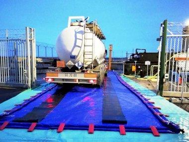 Aire de lavage : bac de rétention souple amovible et pliable - DIFOPE